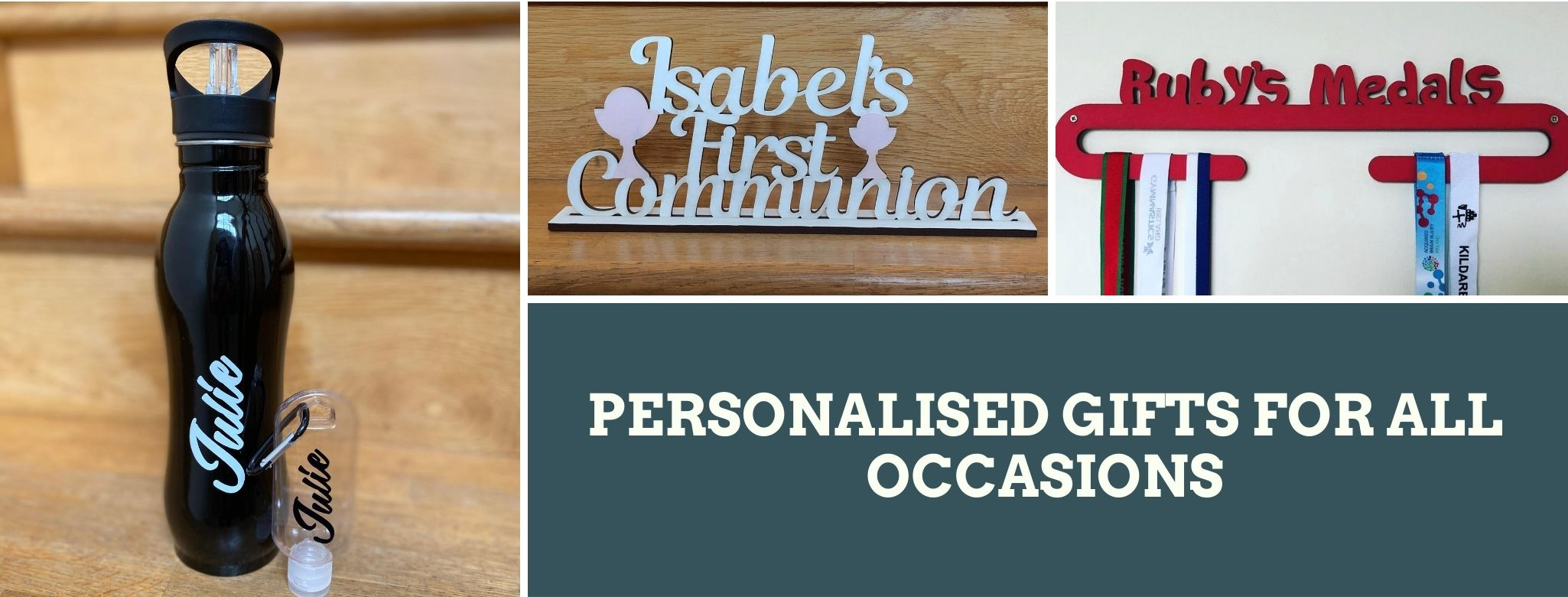 personalised gifts izubee all occasions medals water bottles stainless steel hand sanitiser bottles